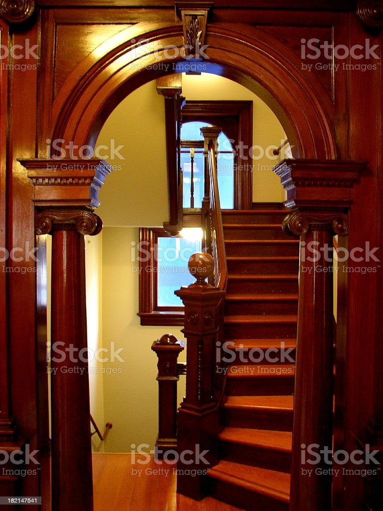 arch & stairwell royalty-free stock photo
