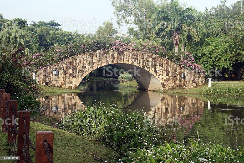 arch stone bridge royalty-free stock photo