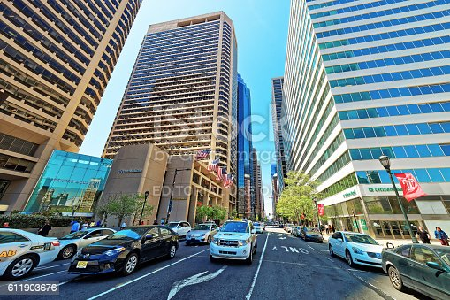 1202686823istockphoto Arch Street and traffic in Philadelphia 611903676