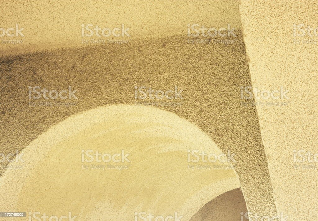 Arch Wall Corner Stucco Architecture Abstract royalty-free stock photo