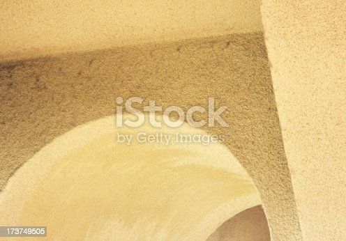istock Arch Wall Corner Stucco Architecture Abstract 173749505