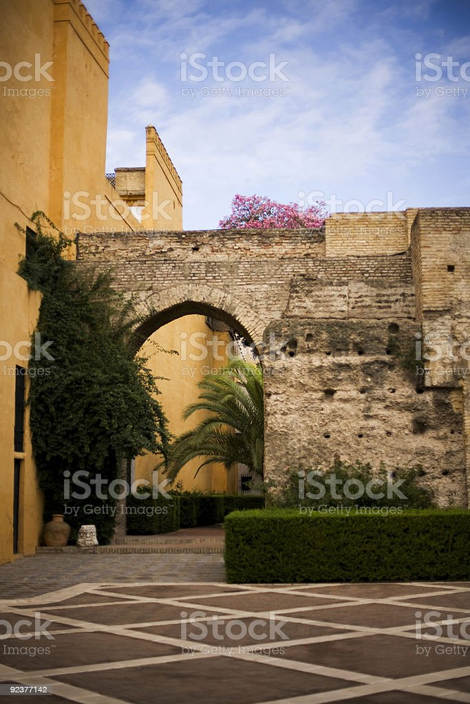 Arch wall royalty-free stock photo