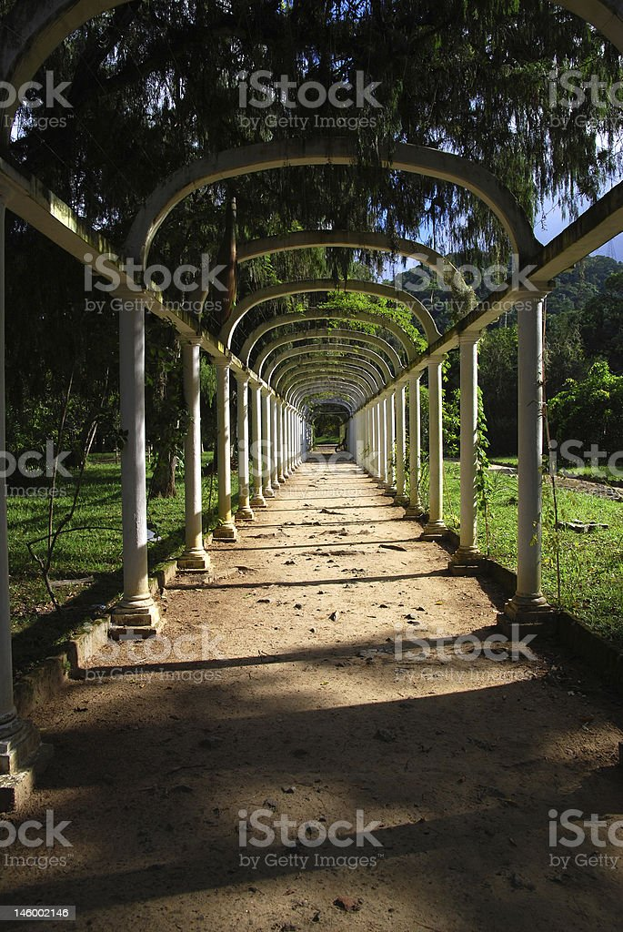 Arch way royalty-free stock photo
