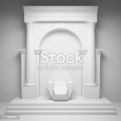 istock Arch with throne 177864827