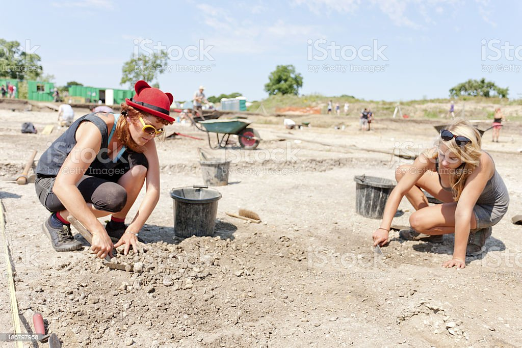 Archaeological dig stock photo