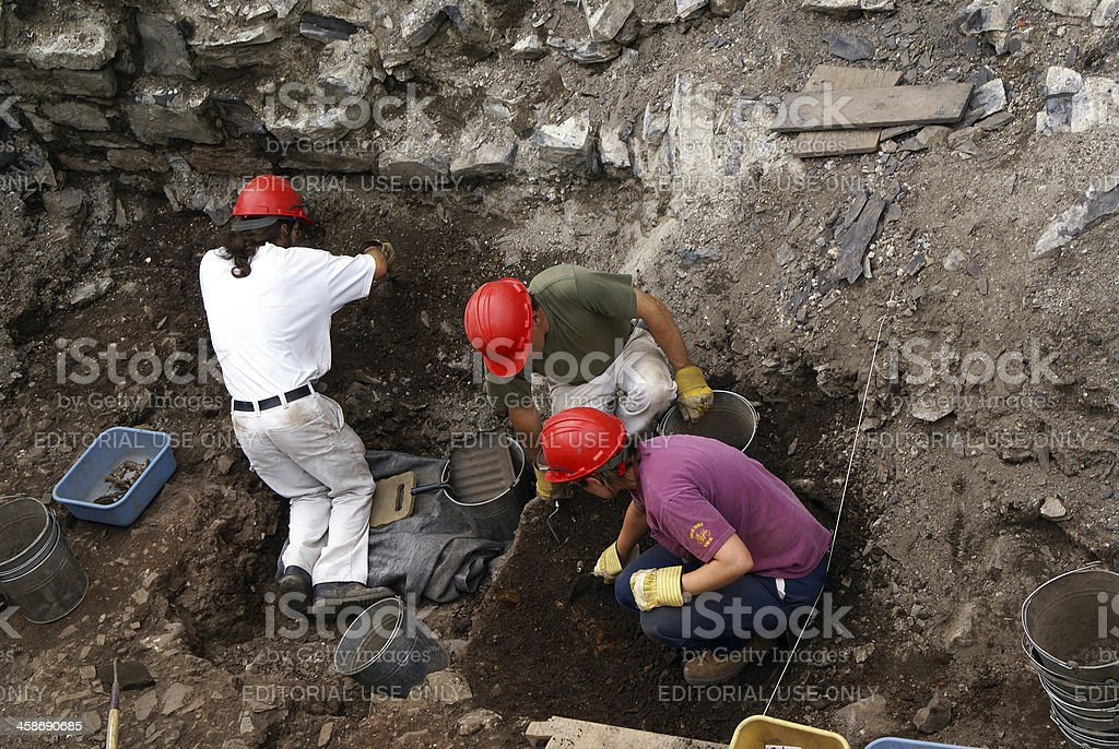 Archaeological Dig Site royalty-free stock photo