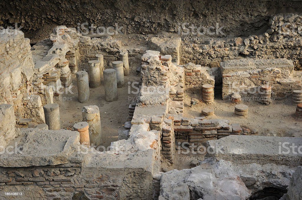 Archaeological Excavation Greece royalty-free stock photo