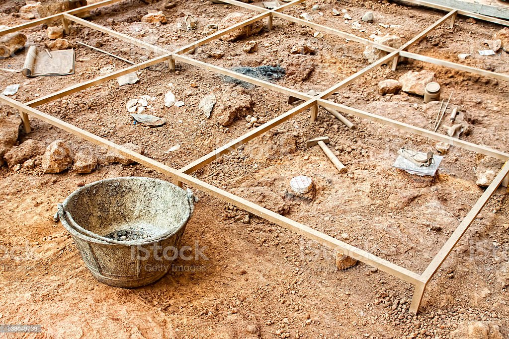 Archaeological excavation stock photo