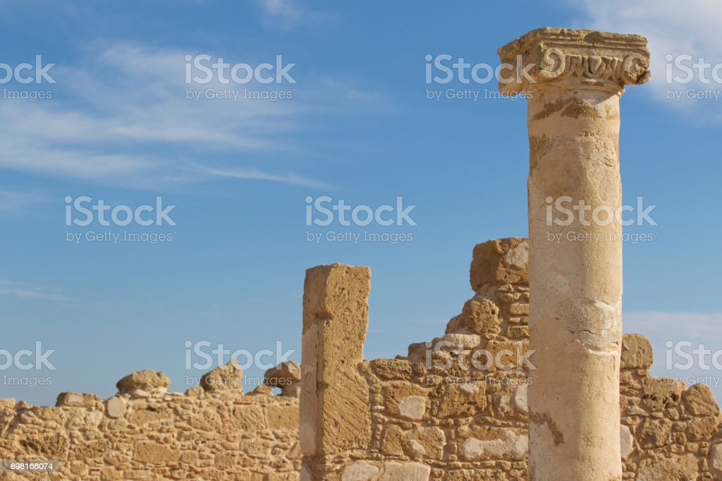 Archaeological excavations of ancient Greek civilization stock photo