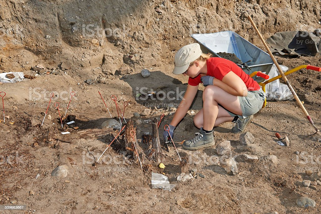 Archaeological excavations stock photo