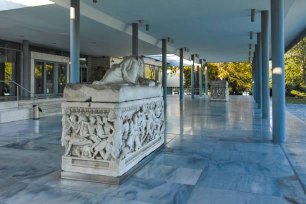 Selanik kentindeki Arkeoloji Müzesi, Orta Makedonya, Yunanistan stok fotoğrafı