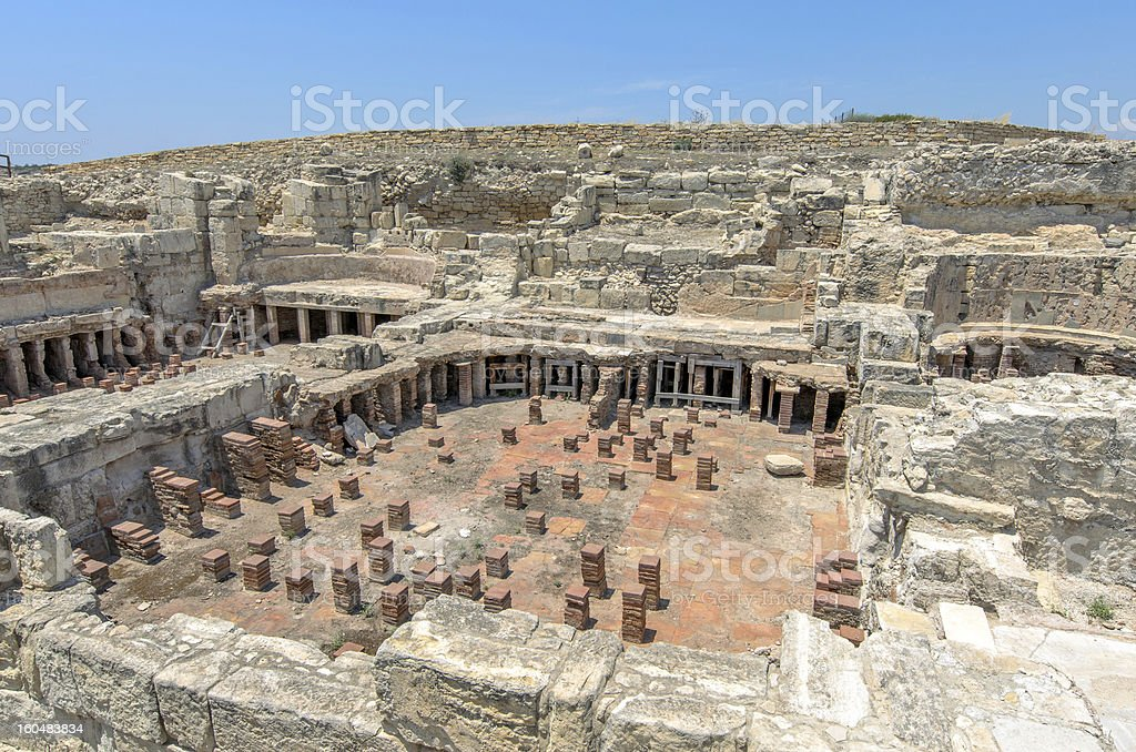 Archaeological museum in Cyprus royalty-free stock photo