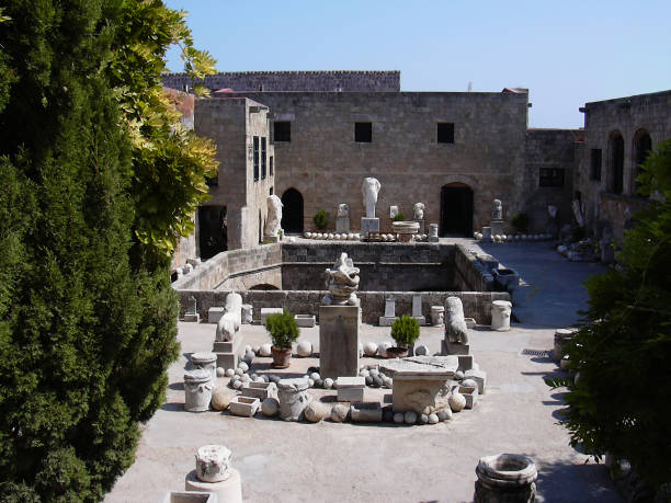 Archaeological Museum of Rhodes Greece stock photo