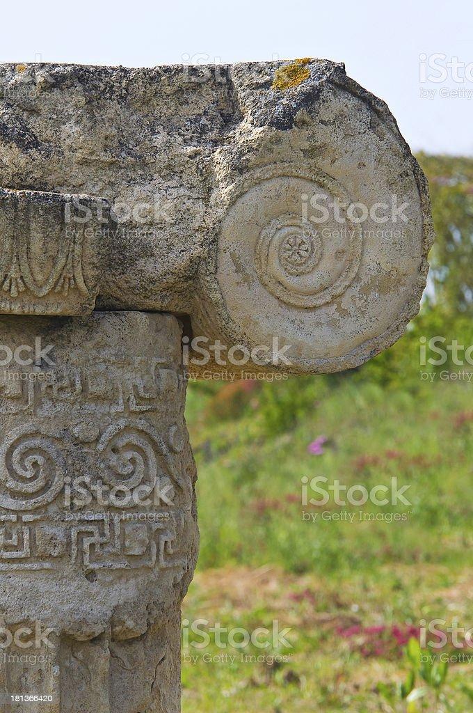 Archaeological Park. Metaponto. Basilicata. Italy. royalty-free stock photo