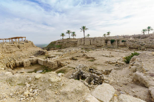 Archaeological remains in Tel Megiddo National Park Archaeological remains in Tel Megiddo National Park. Northern Israel archaeology stock pictures, royalty-free photos & images