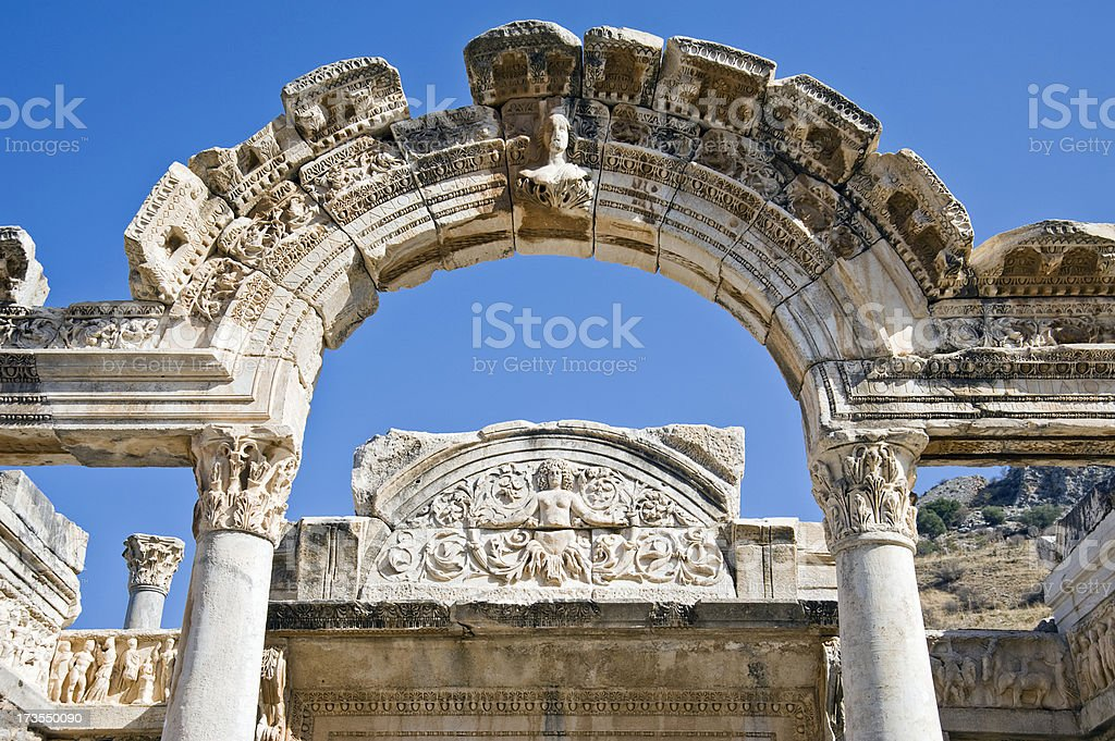Archaeological Restoration royalty-free stock photo