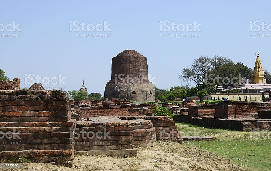 Archaeological Ruins at Sarnath India stock photo
