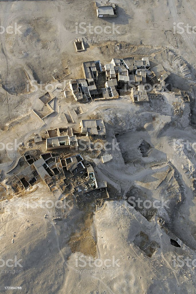 Archaeological Ruins near Luxor royalty-free stock photo
