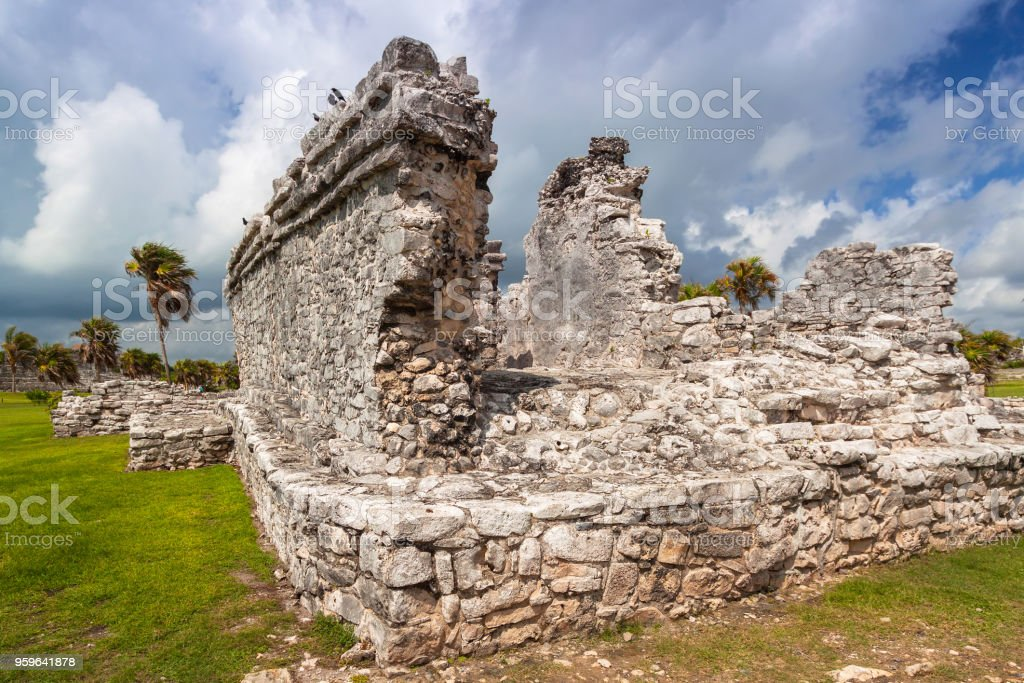 Ruinas arqueológicas de Tulum en México - Foto de stock de Antiguo libre de derechos