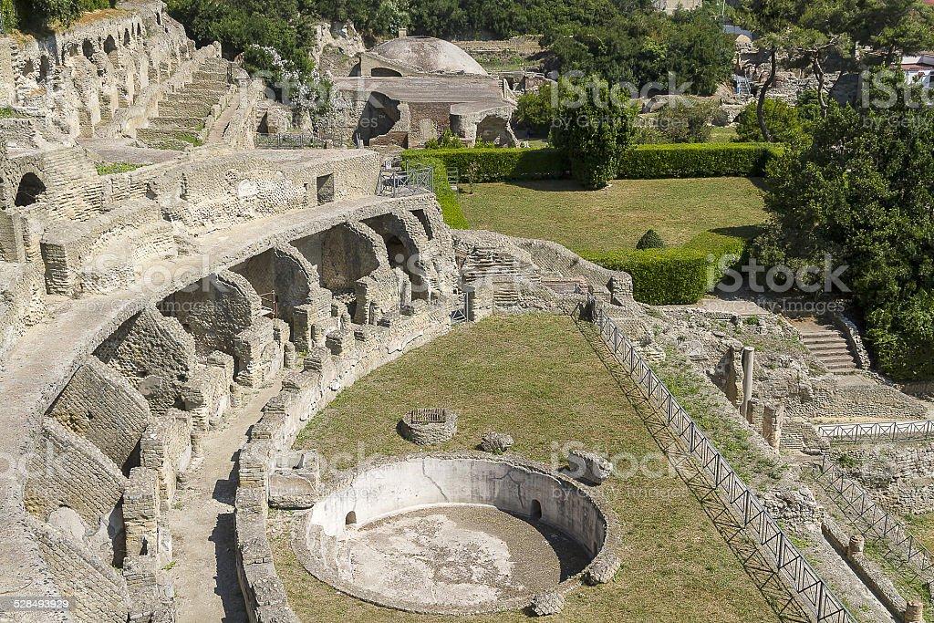 Archaeological site in Baia near Naples stock photo