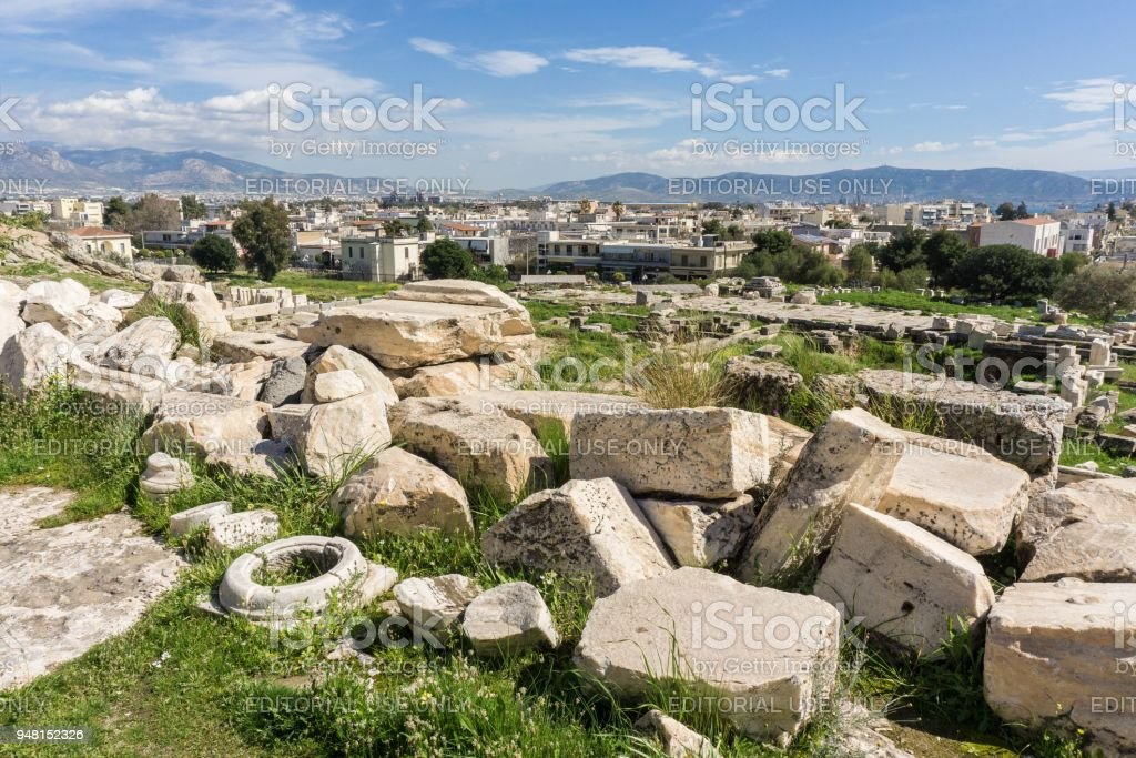 Archaeological site of Eleusis (Eleusina) stock photo