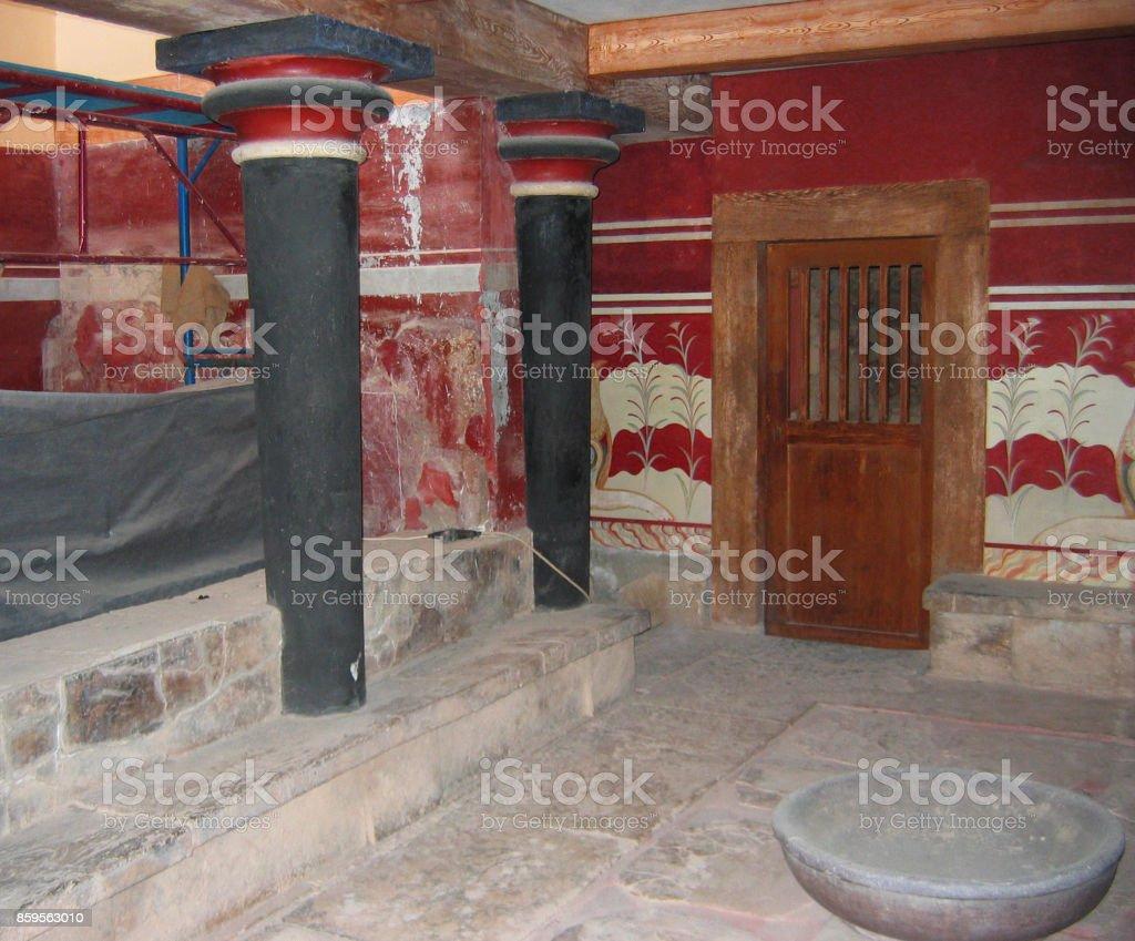 Archaeological Site of Knossos Crete Greece stock photo
