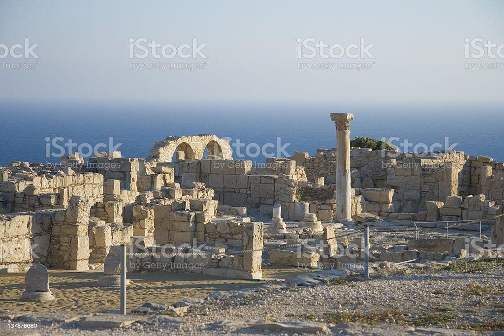 Archaeological site of Kurion on Cyprus stock photo