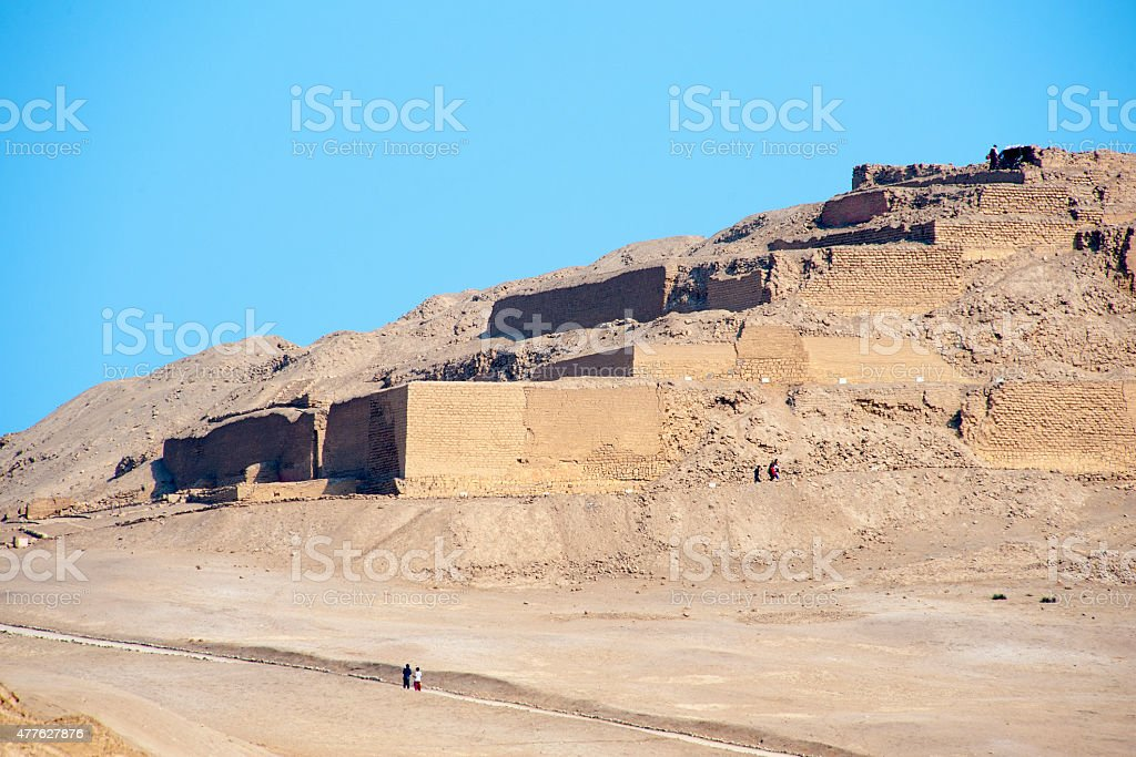 Archaeological site of Pachacamac in Peru, Sout America. The temple...