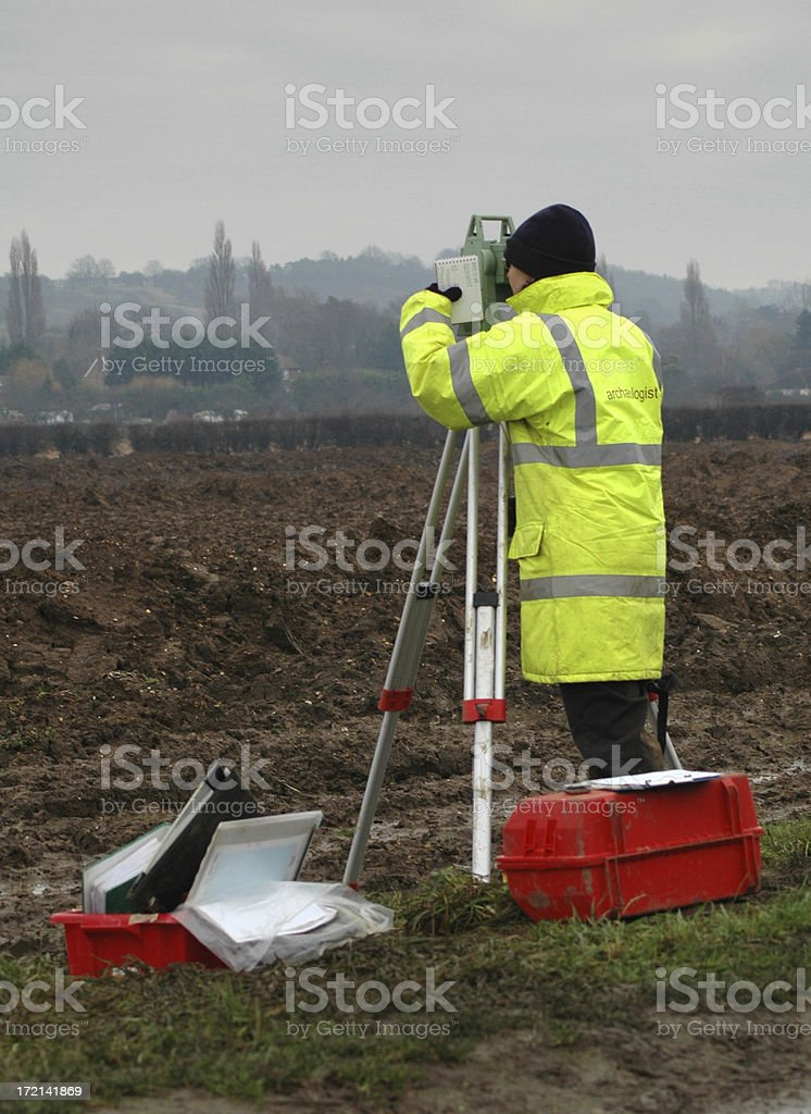 Archaeologist in Winter royalty-free stock photo
