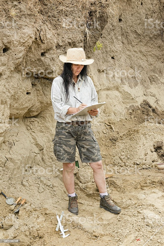 Archaeologist stock photo