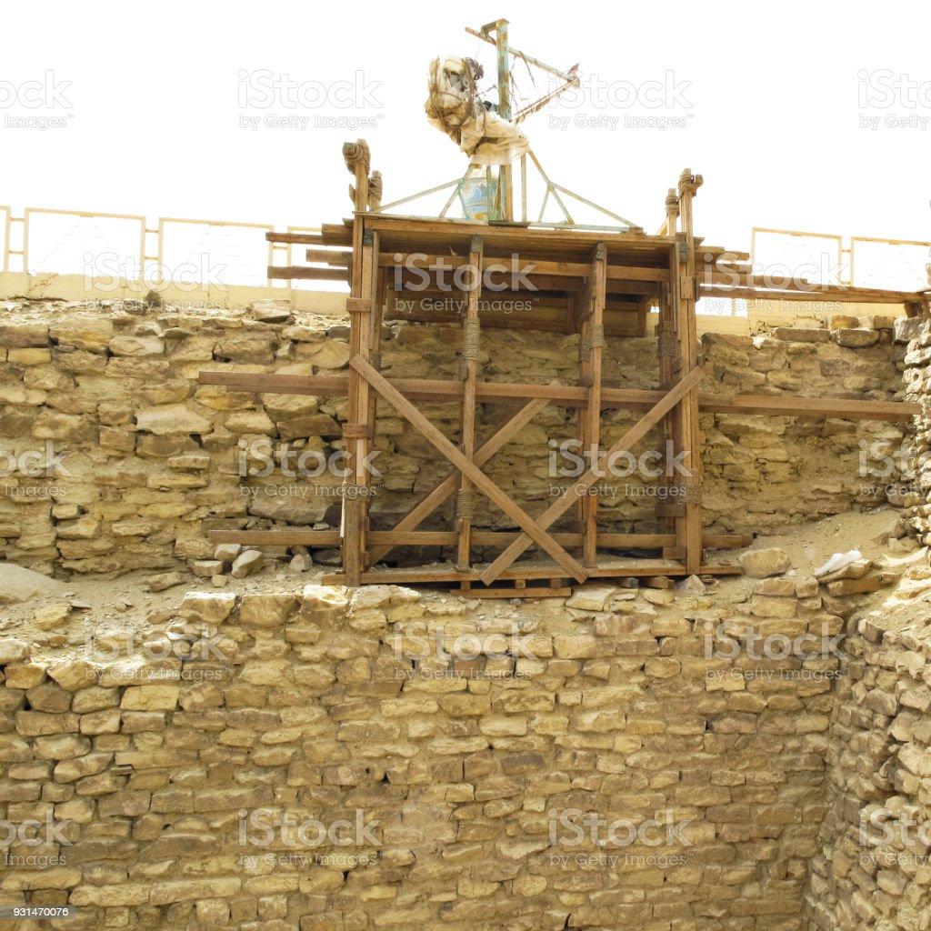 Archaeology Excavation at Pyramid of Djoser at Saqqara in Memphis, Egypt stock photo