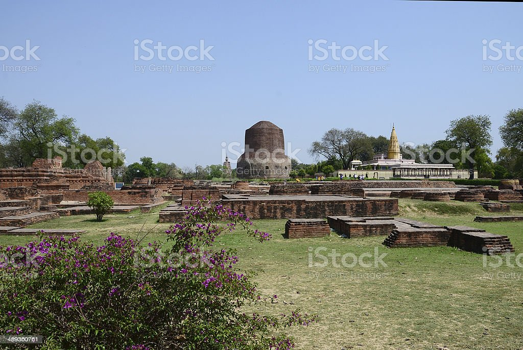 Archaeology Site at Sarnath India stock photo