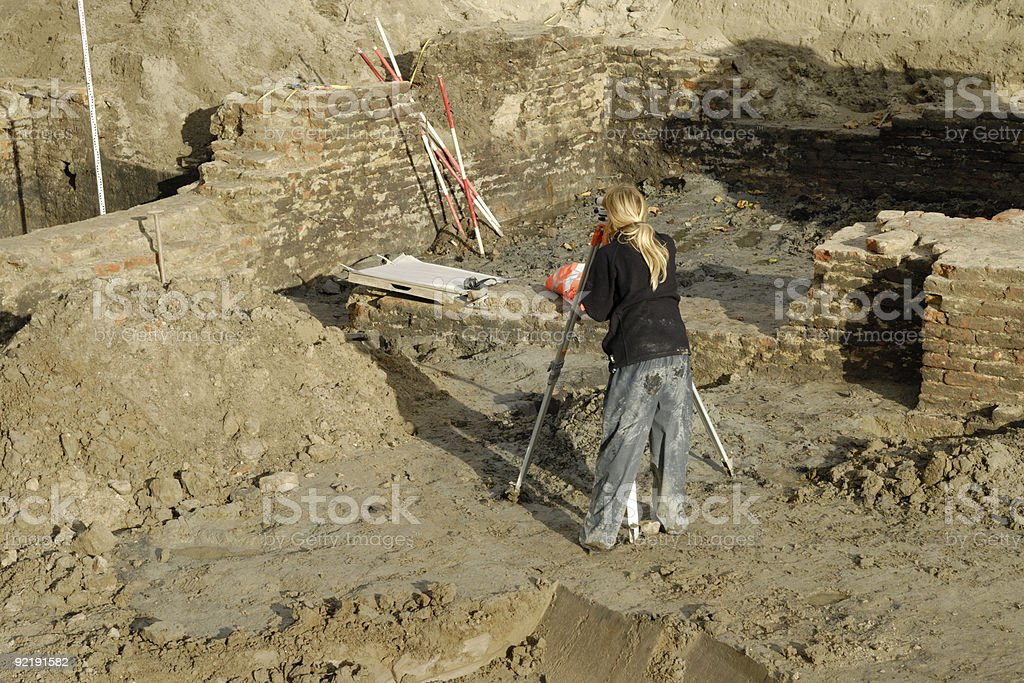 Archaeology site royalty-free stock photo