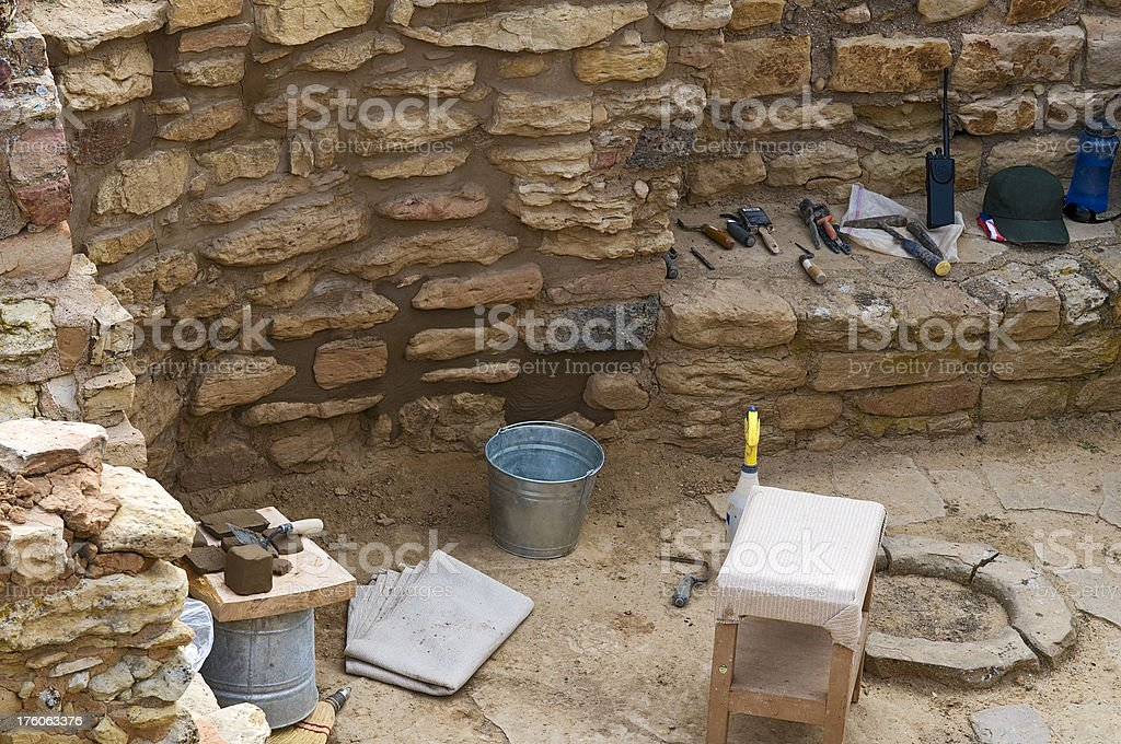 Archaeoogical Site stock photo