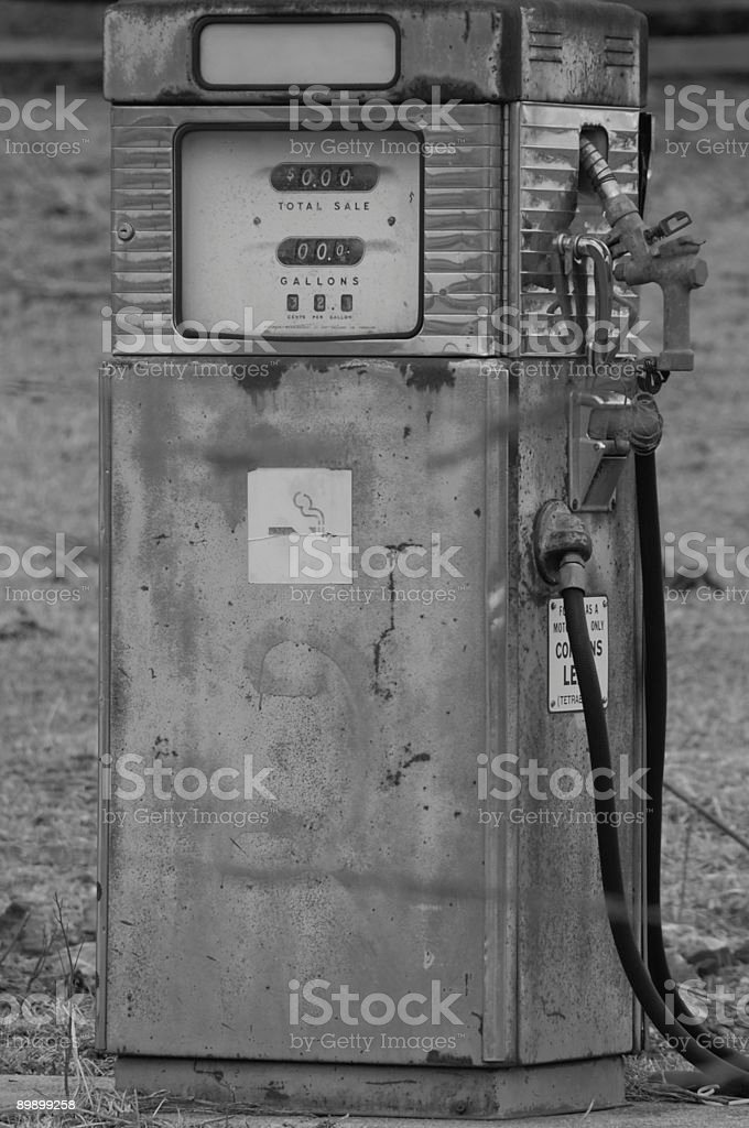 Archaic gas pump royalty-free stock photo