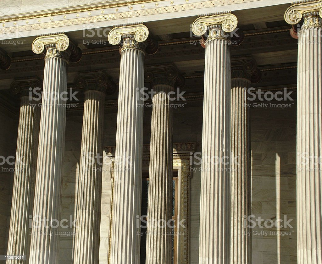 Archaic pillars stock photo