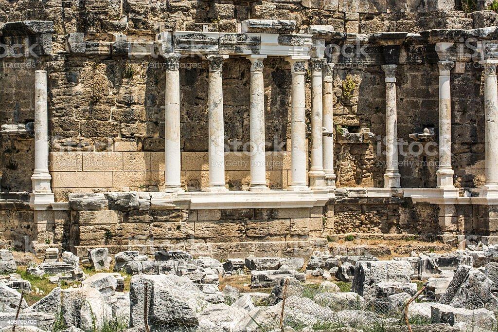 Archaic Runis ,Antalya,Turkey stok fotoğrafı