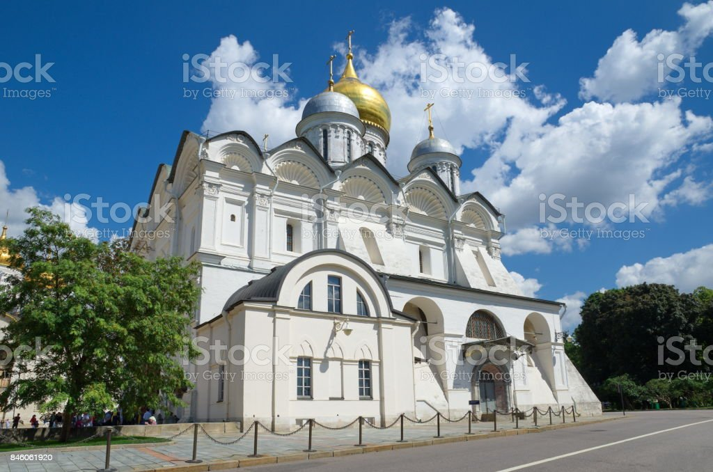 Archangel Cathedral in the Moscow Kremlin, Russia stock photo