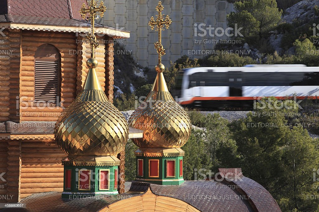 Iglesia ortodoxa arcángel miguel - foto de stock