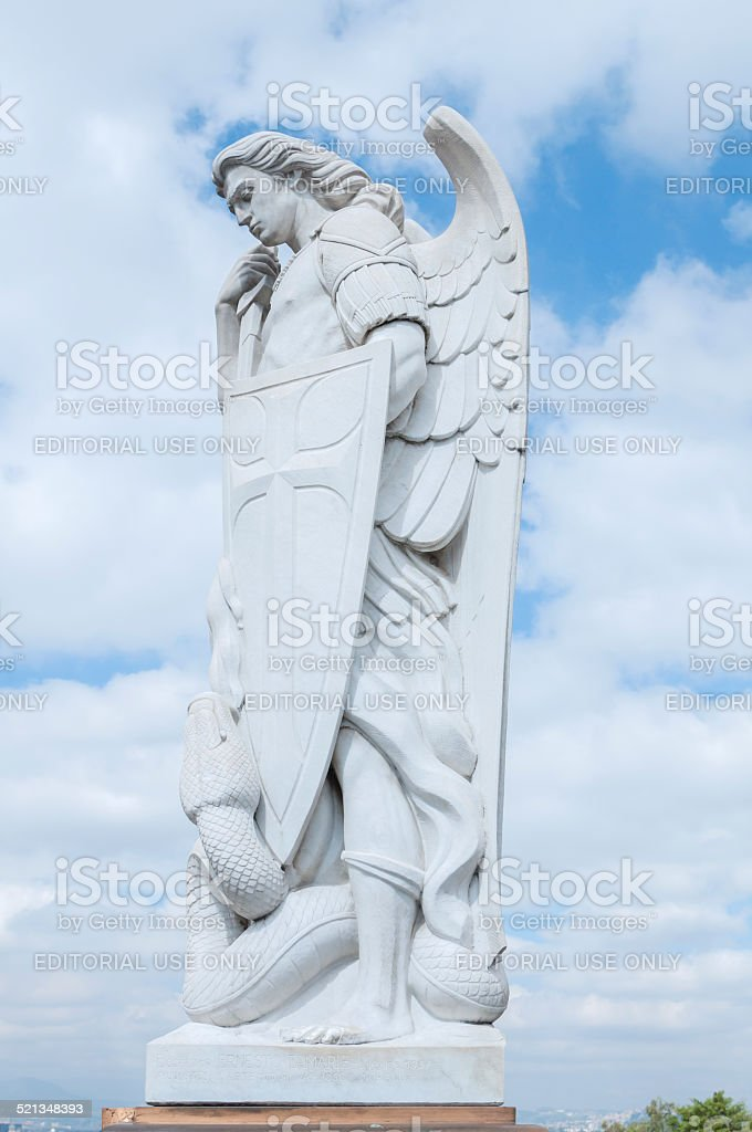 Archangel Michael statue stock photo