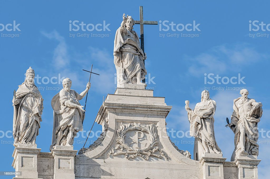 Archbasilica of St. John Lateran in Rome, Italy royalty-free stock photo