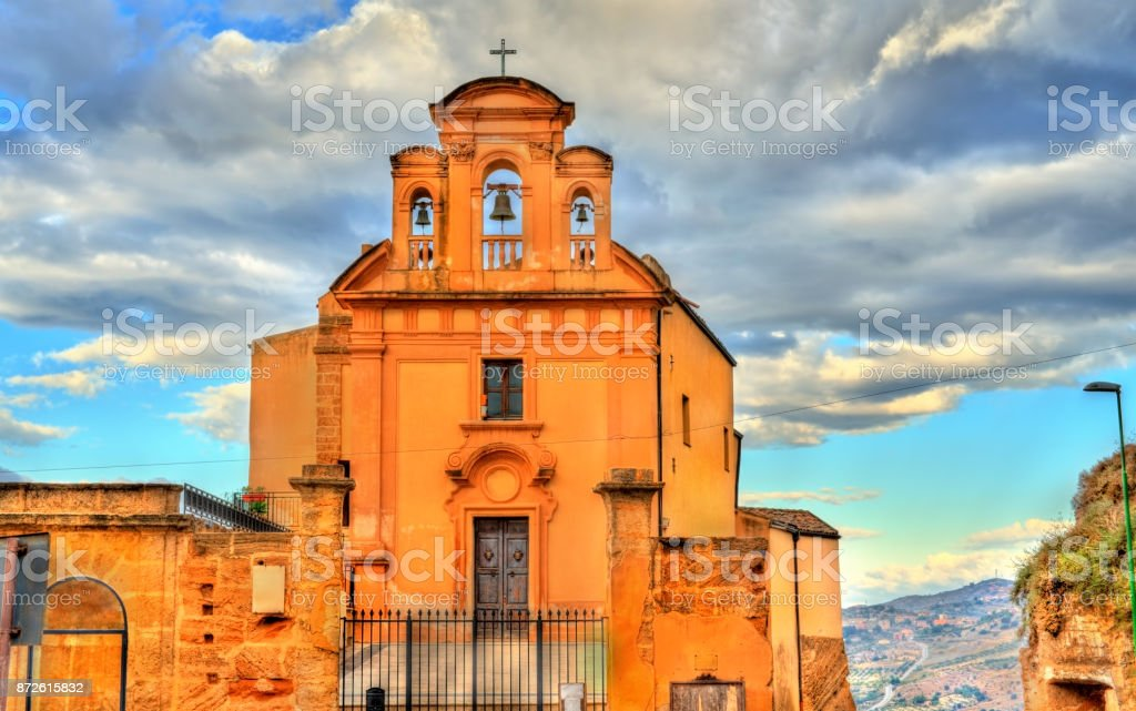 Archconfraternity of the Seven Sorrows of Mary in Agrigento, Sicily stock photo