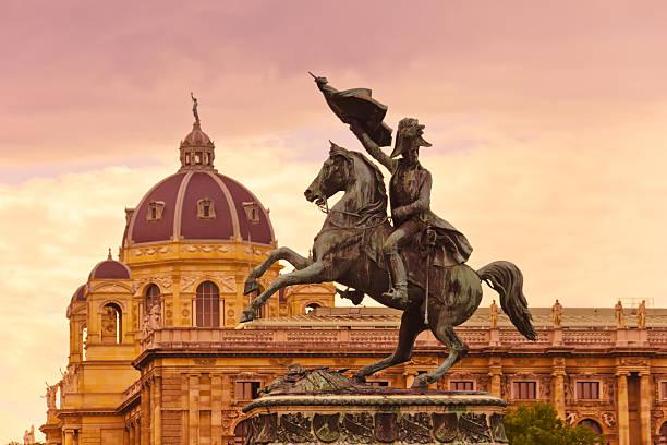Archduke Karl memorial - Vienna Austria stock photo