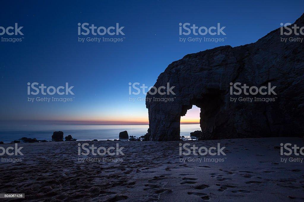 Arche du Port Blanc, Quiberon, Bretagne stock photo