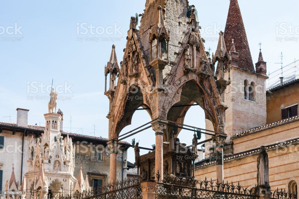arche scaligere (scaliger family tombs) in Verona stock photo
