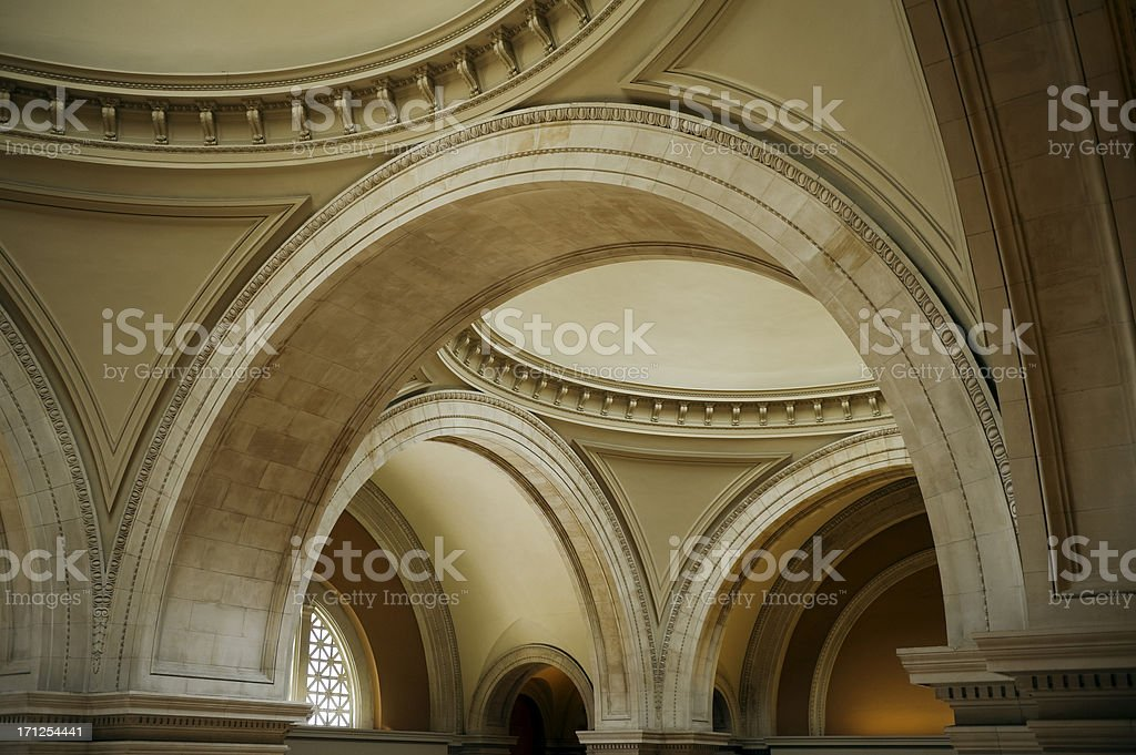 Arched ceiling stock photo