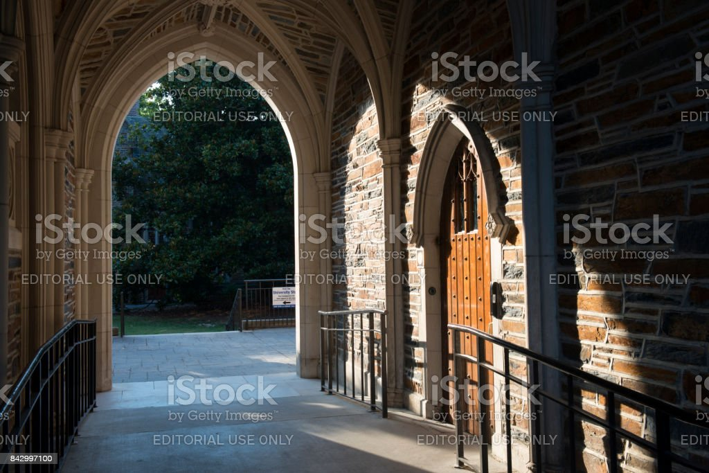 Arched door and hallway in the c&us of Duke University royalty-free stock photo & Arched Door And Hallway In The Campus Of Duke University Stock Photo ...