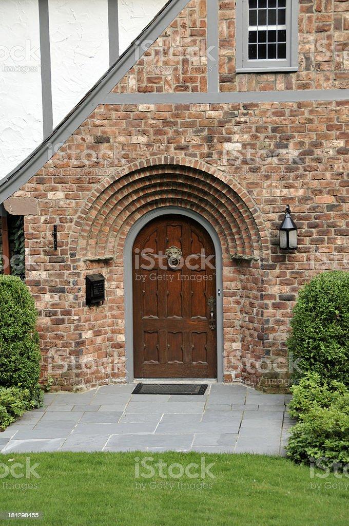Arched Door stock photo