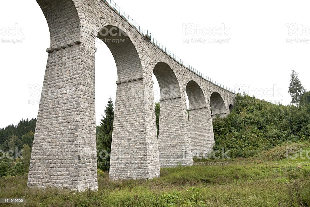 Arched railway viaduct royalty-free stock photo