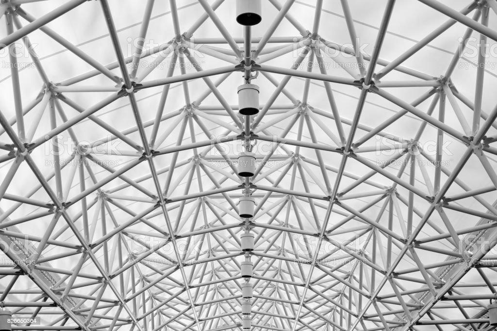 Gewölbtes Dach Stahlkonstruktion abstrakt für Freiflächen – Foto
